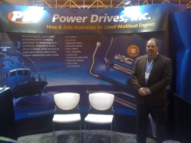 Dave Crawford at 31st International work boat show